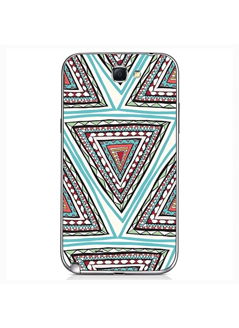People's Cover Samsung Note 2 Kabartmalı Kapak Renkli